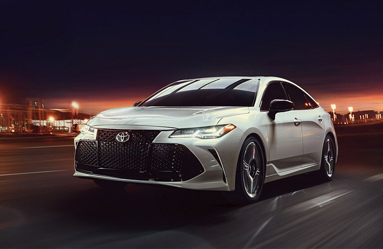 Front View of 2019 Toyota Avalon with Headlights On