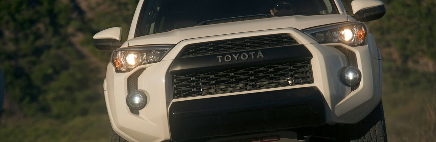 2019 Toyota 4Runner TRD Pro Close-Up Front View of White Exterior