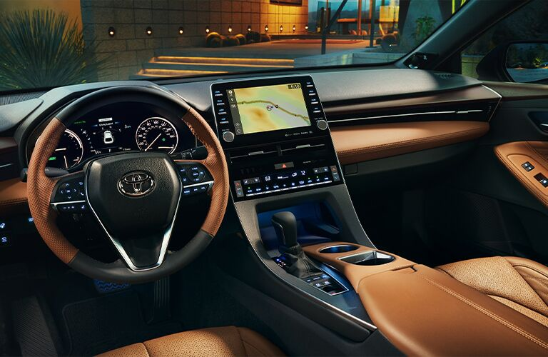 Steering wheel and dashboard in 2020 Toyota Avalon Hybrid