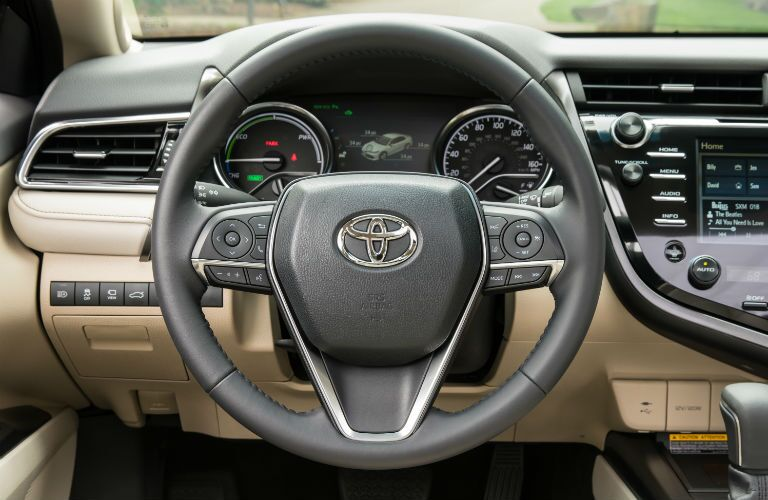 Steering wheel in the 2020 Toyota Camry Hybrid