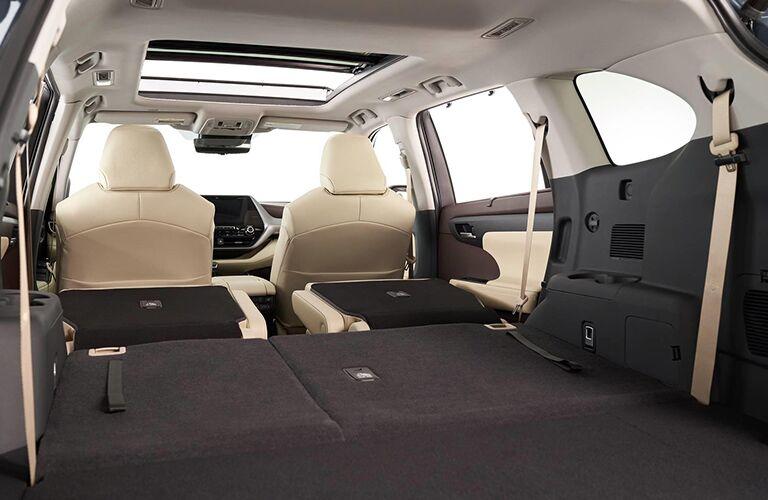 Interior view of 2020 Toyota Highlander Hybrid trunk