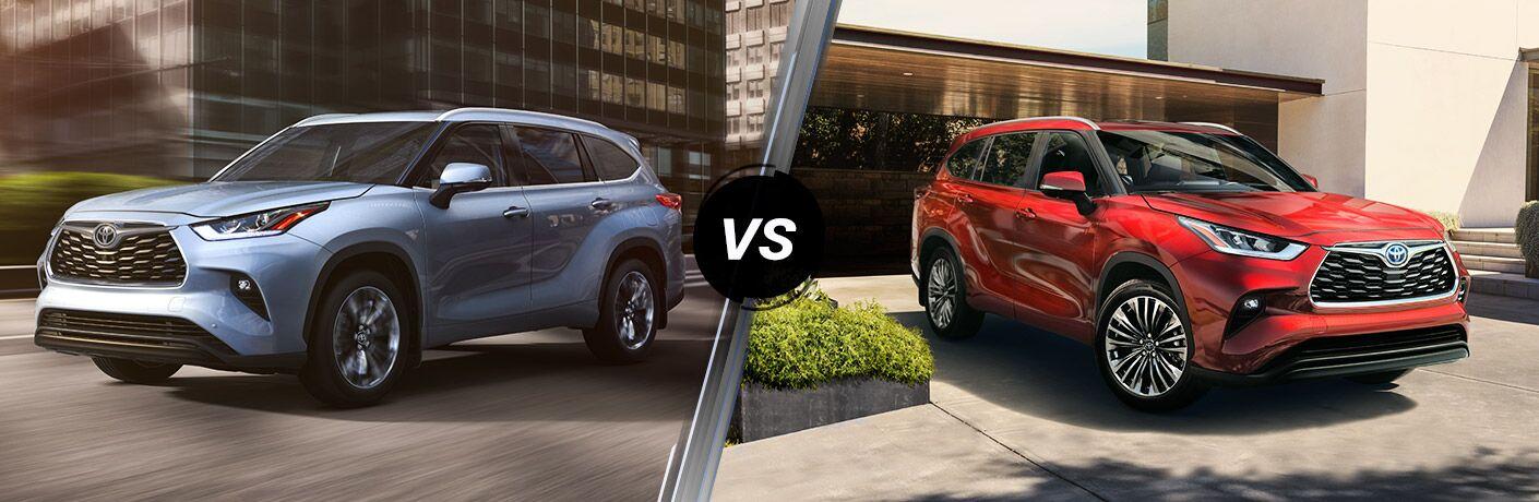 2020 Toyota Highlander vs 2020 Toyota Highlander Hybrid