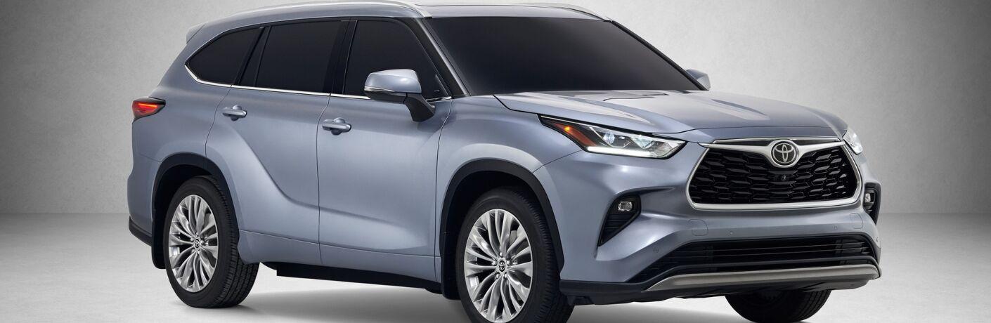 Blue 2020 Toyota Highlander