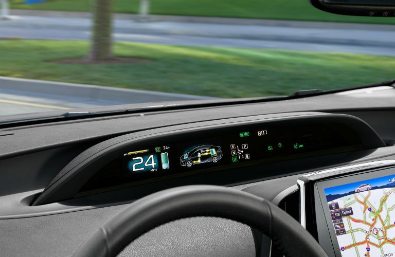 Informational display in 2020 Toyota Prius Prime