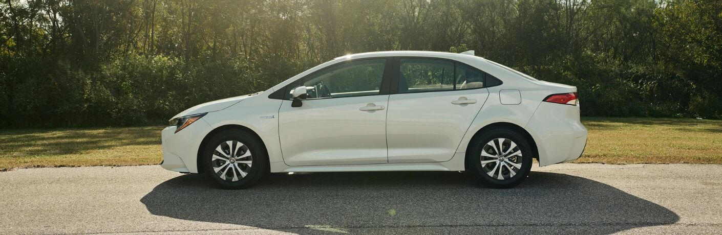 2020 Toyota Corolla Side View of White Exterior