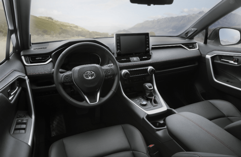 Interior view of 2021 Toyota RAV4 Prime