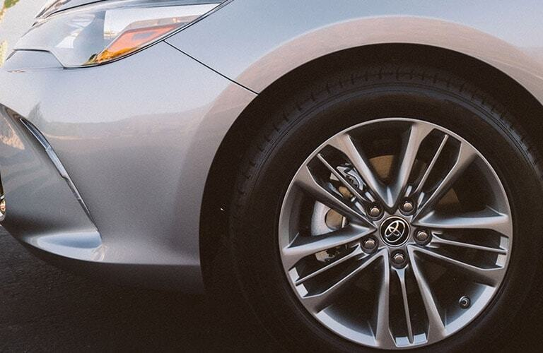 Closeup of wheel on 2017 Toyota Camry