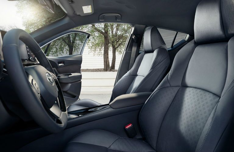 A photo of the front seats in the 2020 Toyota C-HR.