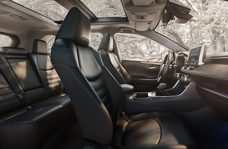 A photo of the seats in a certified pre-owned Toyota RAV4 Hybrid.