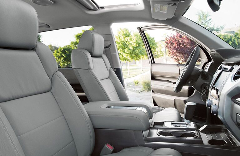 A photo of the front seats in a pre-owned Toyota Tundra.