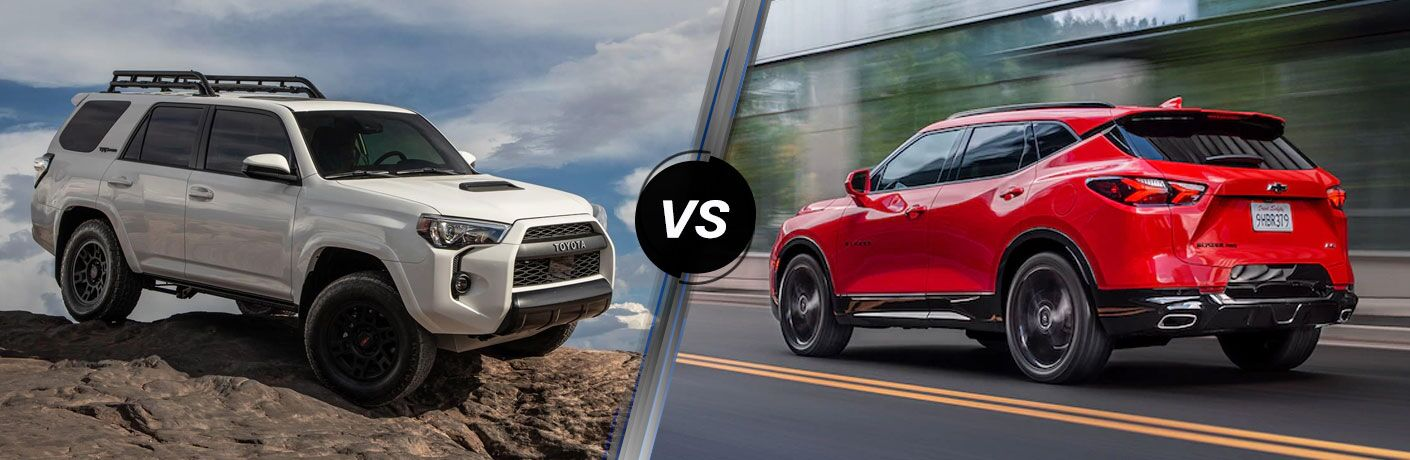 A side-by-side comparison of the 2020 Toyota 4Runner vs. 2020 Chevy Blazer.