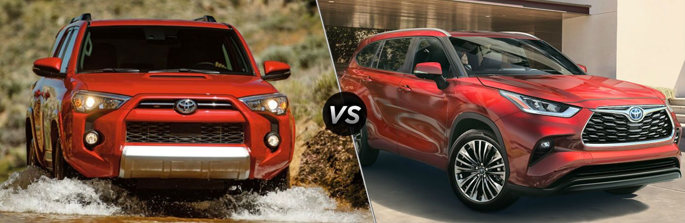 A side-by-side comparison of the 2020 Toyota 4Runner vs. 2020 Toyota Highlander.