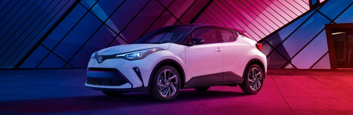 A left profile photo of the 2020 Toyota C-HR.