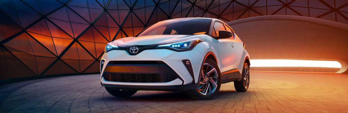 A front-end photo of the 2020 Toyota C-HR.