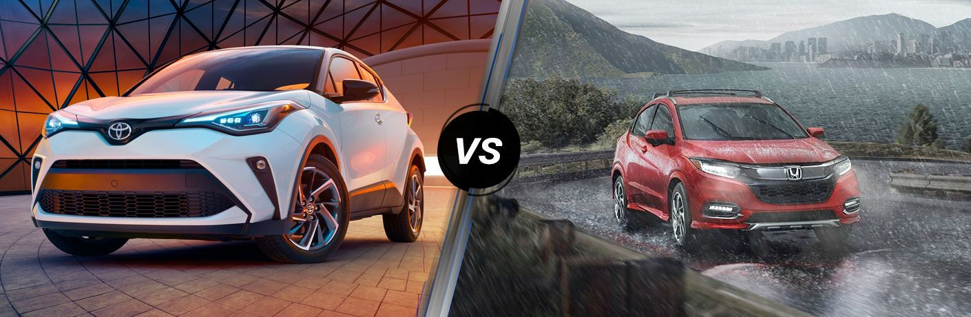 A side-by-side comparison of the 2020 Toyota C-HR vs. 2020 Honda HR-V.