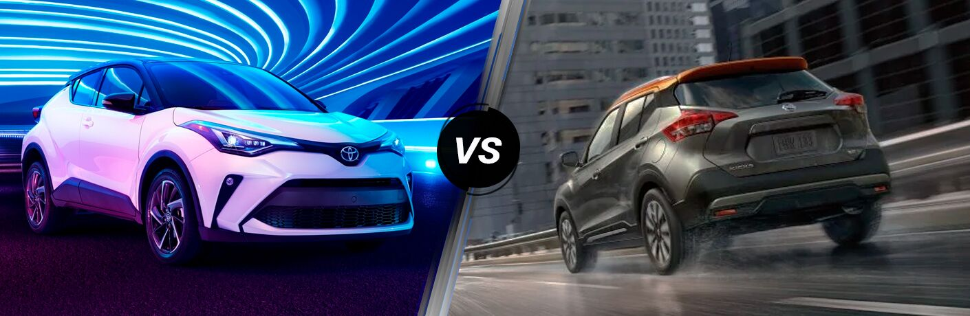 A side-by-side comparison of the 2020 Toyota C-HR vs. 2020 Nissan Kicks.