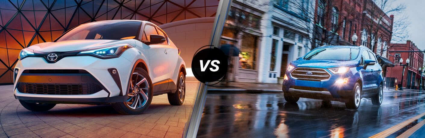 A side-by-side comparison of the 2020 Toyota C-HR vs. 2020 Ford EcoSport.