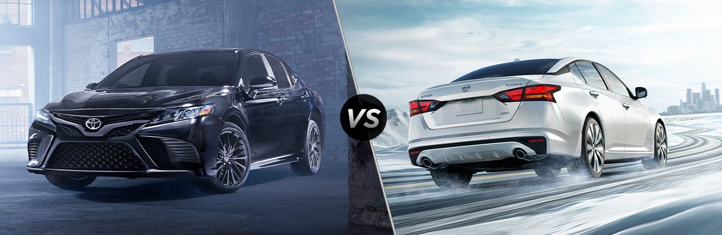 A side-by-side comparison of the 2020 Toyota Camry vs. 2020 Nissan Altima.