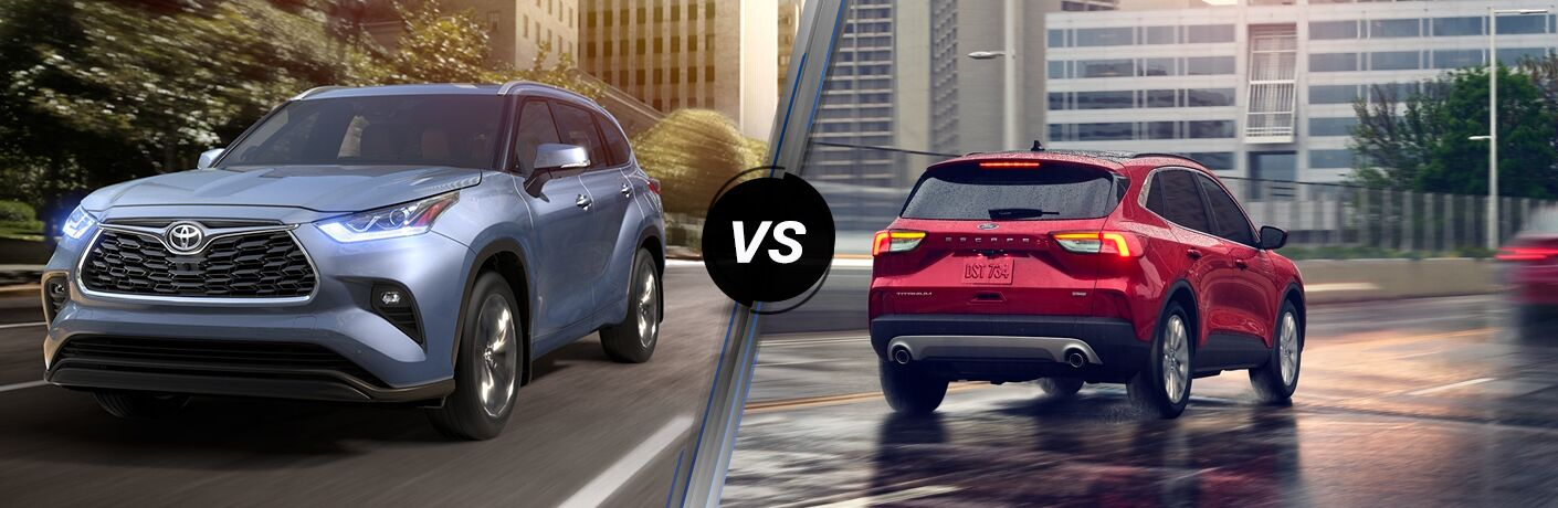 A side-by-side comparison of the 2020 Toyota Highlander vs. 2020 Ford Escape.