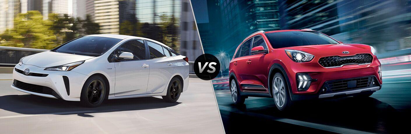 A side-by-side comparison of the 2020 Toyota Prius vs. 2020 Kia Niro.