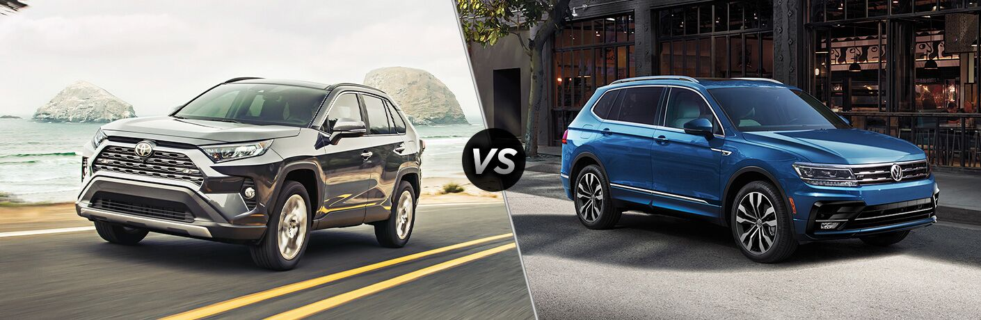 A side-by-side comparison of the 2020 Toyota RAV4 vs. 2020 Volkswagen Tiguan.