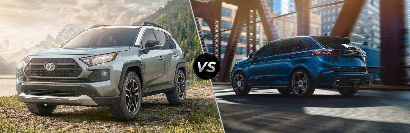 A side-by-side comparison of the 2020 Toyota RAV4 vs. 2020 Ford Edge.