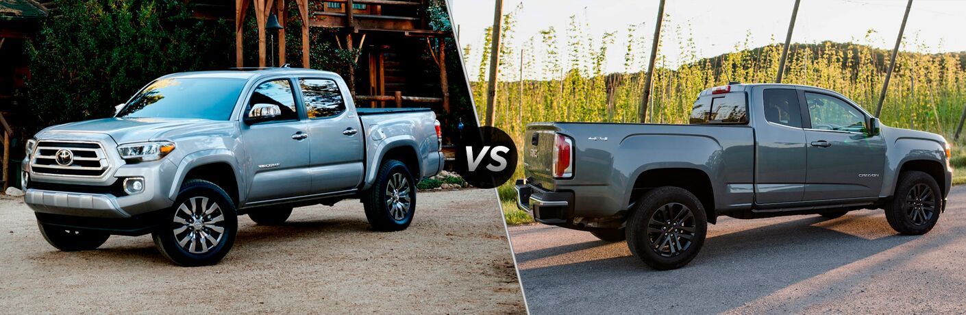 A side-by-side comparison of the 2020 Toyota Tacoma vs. 2020 GMC Canyon.
