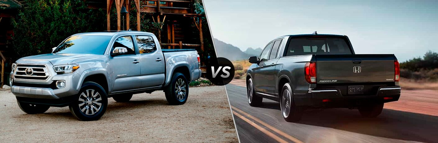 A side-by-side comparison of the 2020 Toyota Tacoma vs. 2020 Honda Ridgeline.