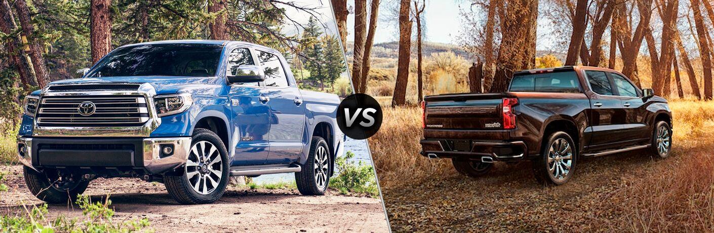 A side-by-side comparison of the 2020 Toyota Tundra vs. 2020 Chevy Silverado.