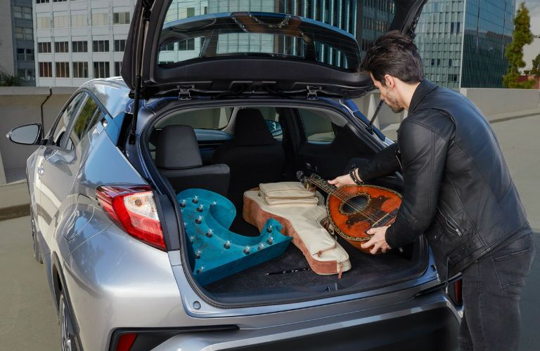 A photo of the cargo area in the rear of the 2020 Toyota C-HR.