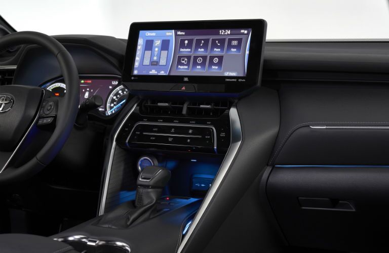 A photo of the touchscreen interface used in the 2021 Toyota Venza.