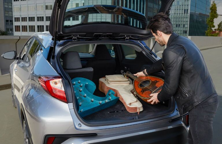 A photo of the cargo space in the back of the 2020 Toyota C-HR.