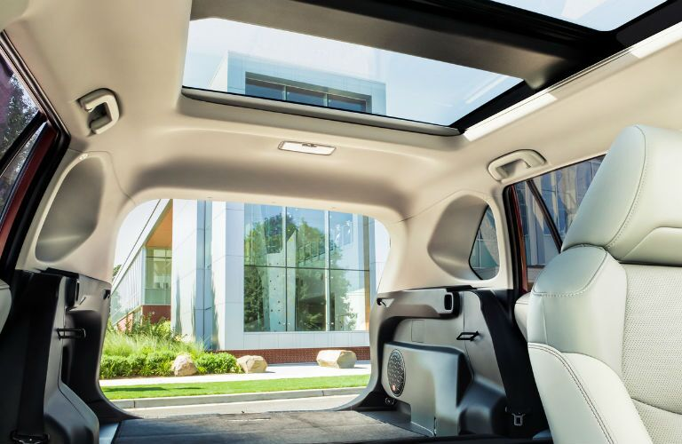 A photo of the rear cargo area in the 2020 Toyota RAV4.