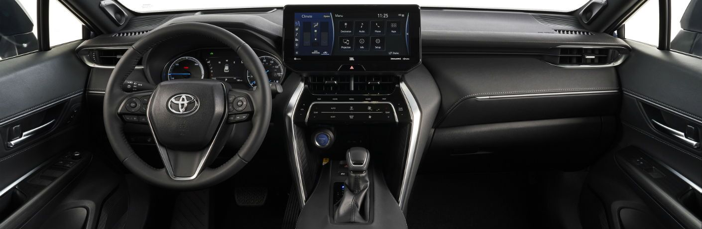 A photo of the dashboard in the 2021 Toyota Venza.
