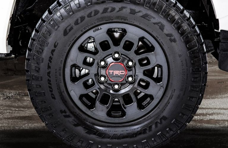 TRD Pro Alloy wheel on Toyota Tacoma Predator Package