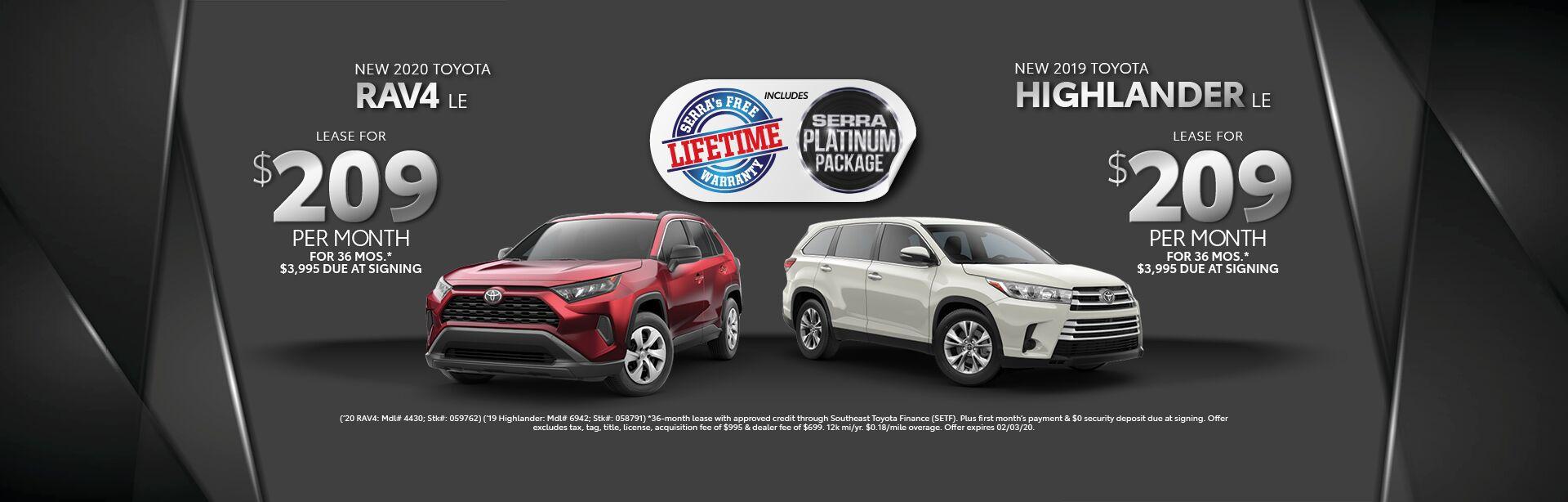 Toyota Highlander Lease >> New Toyota Highlander Lease Decatur Al