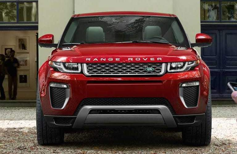 red land rover range rover evoque front bumper and grille