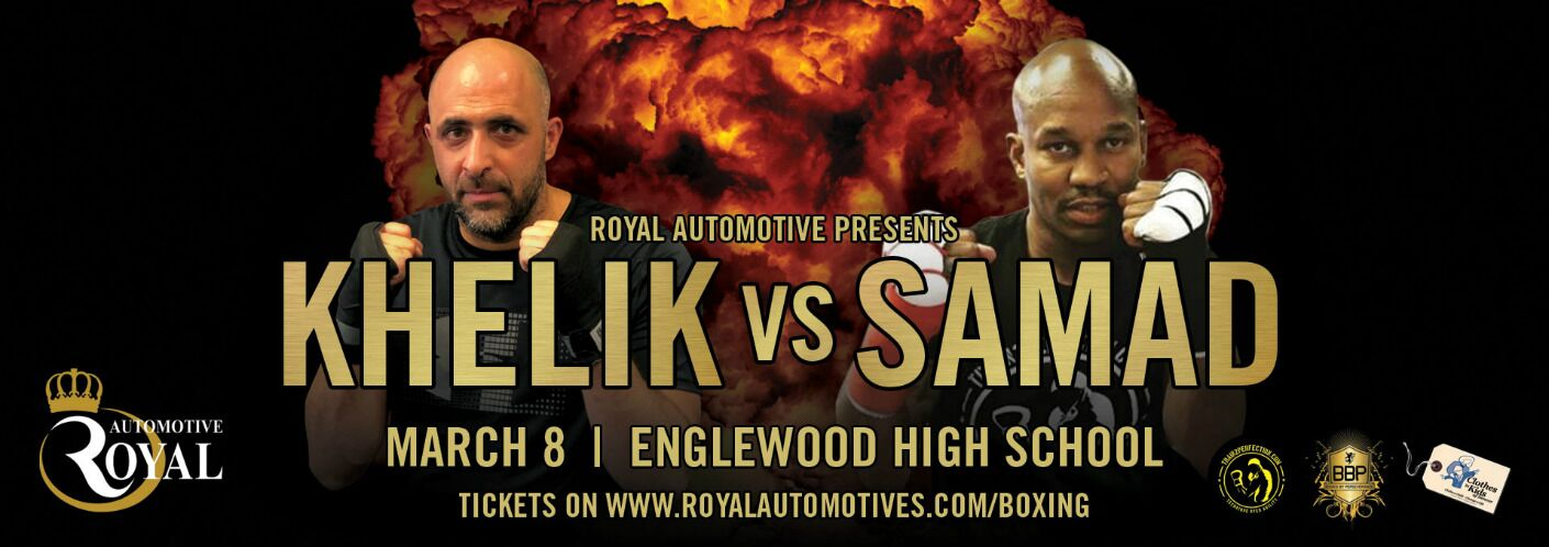 Details of Charity Boxing Event, two boxers, and an explosion