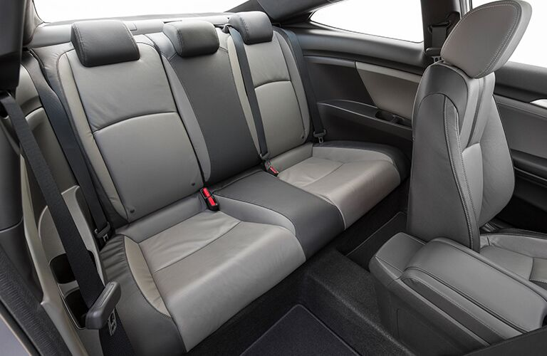rear passenger space in a 2018 Honda Civic Coupe
