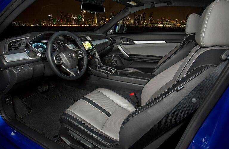 front interior of a 2018 Honda Civic Coupe