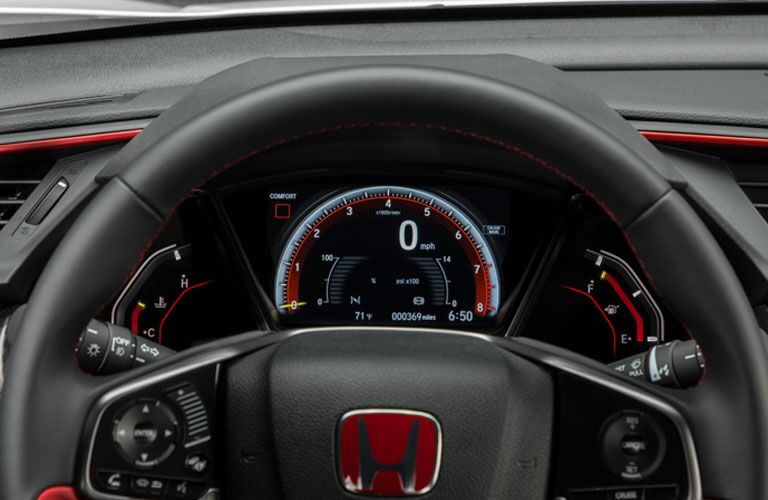 driver display in a 2018 Honda Civic Type R