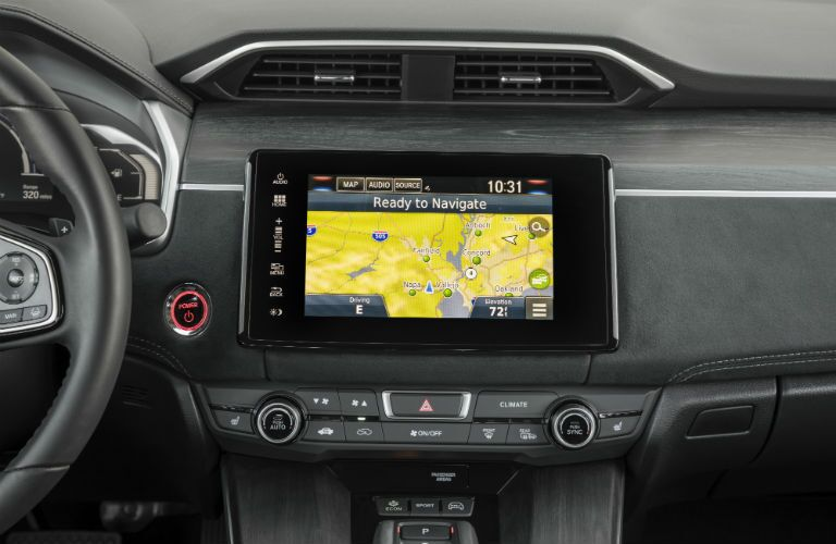 close up of the infotainment system in a 2018 Honda Clarity Plug-In Hybrid