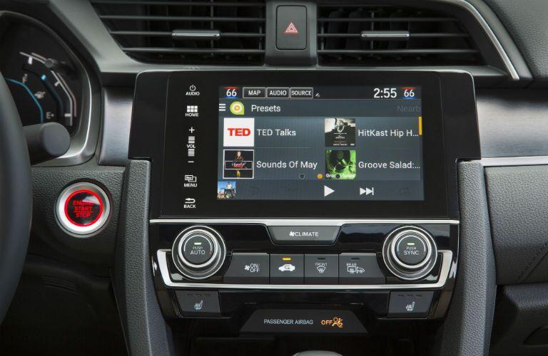 infotainment system in a 2018 Honda Civic Sedan