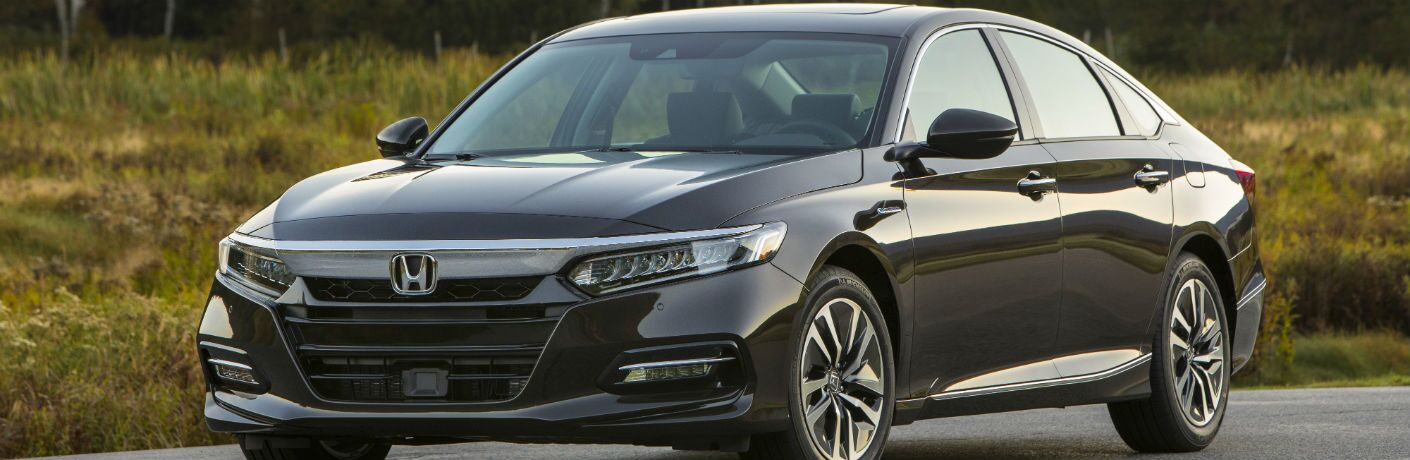 front view of a black 2019 Honda Accord Hybrid