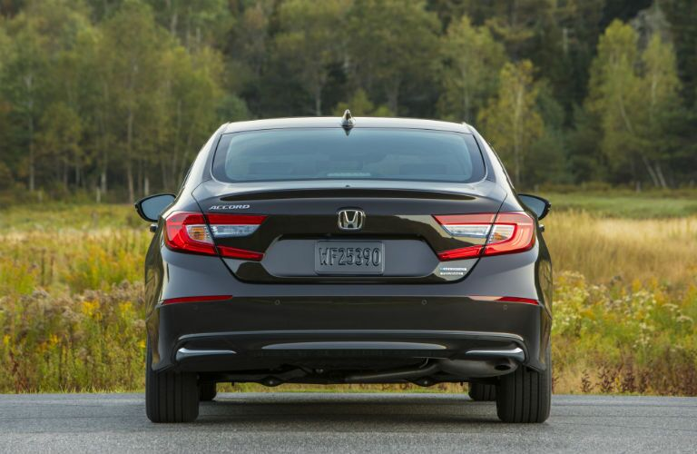 rear view of a black 2019 Honda Accord Hybrid