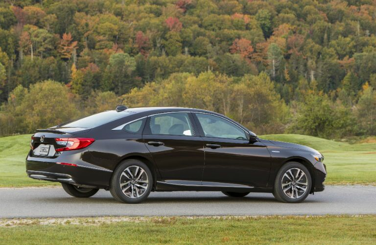 side view of a black 2019 Honda Accord Hybrid