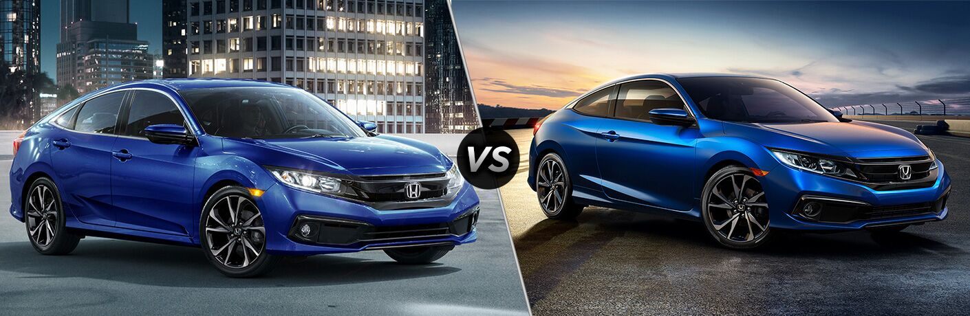 2019 Honda Civic Sedan Sport vs 2019 Honda Civic Coupe Sport