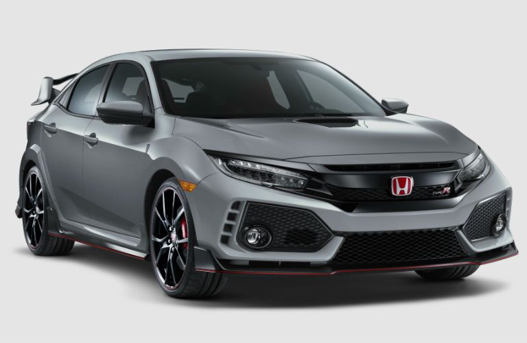 front view of a silver 2019 Honda Civic Type R