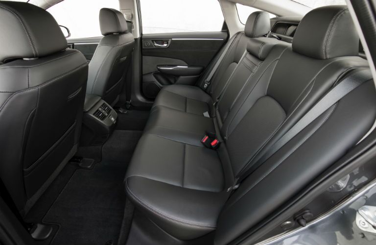 rear passenger space in a 2019 Honda Clarity Plug-In Hybrid
