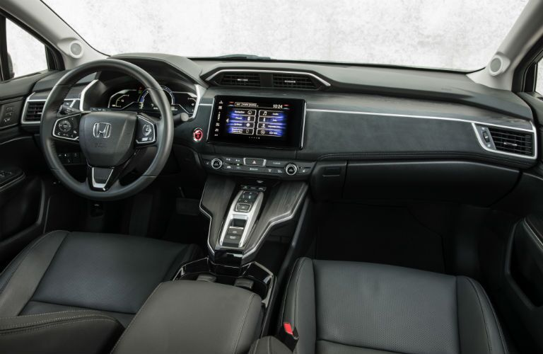 front interior of a 2019 Honda Clarity Plug-In Hybrid